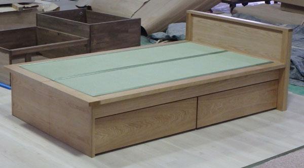 オーク材 畳ベッド