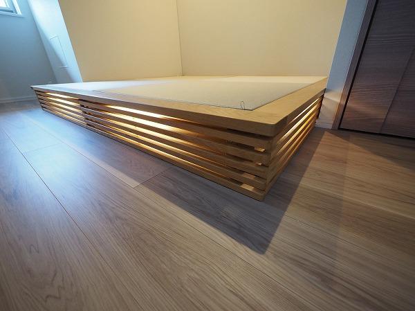 小上がり 畳ベッド LED照明 LEDライト