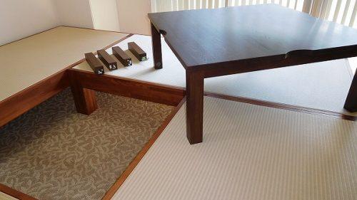 ユニット畳の設置は簡単です。