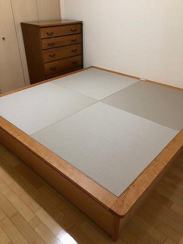 畳ベッド チェリー無垢材 引き出し収納