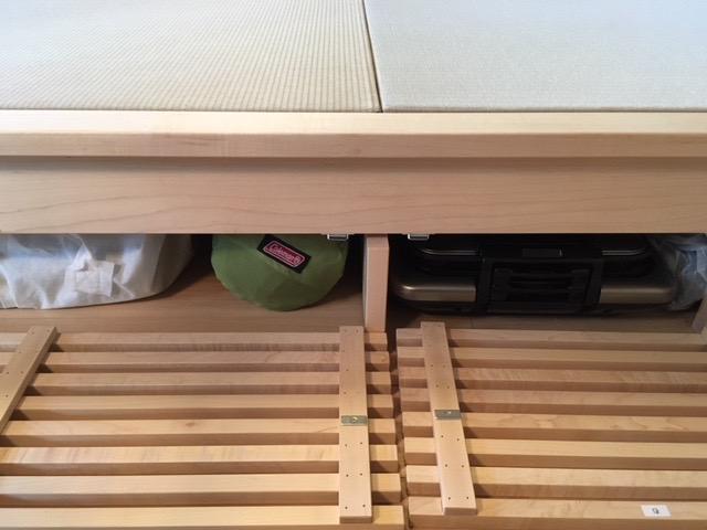 オリジナルユニット畳 デスク メープル無垢材