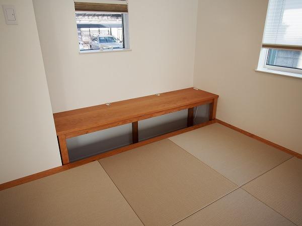 ユニット畳 高床式 パソコンデスク 畳 チェリー無垢材