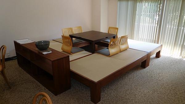 畳ベッド 介護施設 共有スペース 掘りごたつ 畳ベンチ