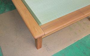 丸みのある畳ベッドの枠