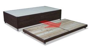 すのこベッド 親子ベッド ダブルサイズ セミダブルサイズ
