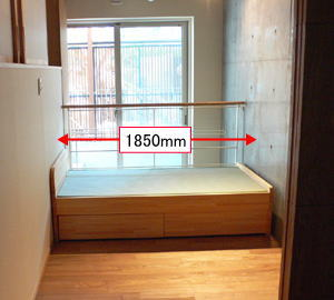 畳ベッド 小さいサイズ 引き出し収納