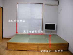 洋室から和室にリフォーム 高床畳
