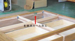 ユニット畳 配線用ホール加工 コンセント