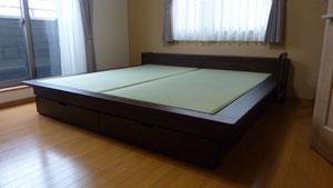 畳ベッド 大きいサイズ ヘッドボード 手すり付き