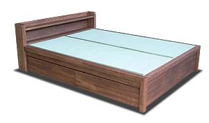 畳ベッド 引き出し収納 ローズウッド色