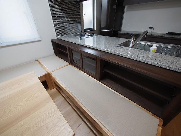 オーダー 畳ベンチ 対面キッチン 収納
