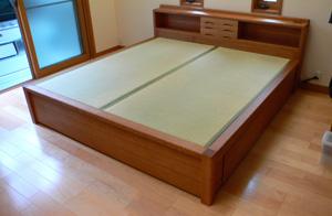 畳ベッド ナラ無垢材 キングサイズ 引き出し収納