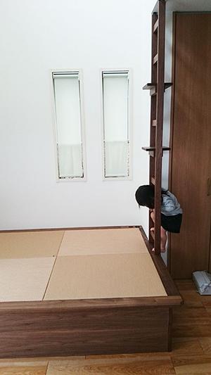 梯子付き 畳ベッド