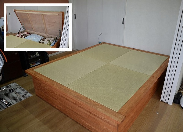 畳ベッド 跳ね上げ 収納