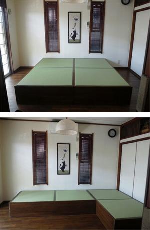 畳ベッド セミダブルサイズ 収納