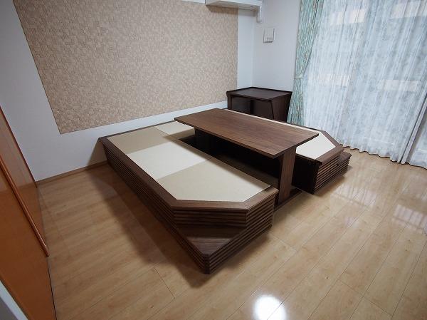 ユニット畳 テーブル ウォールナット 無垢材