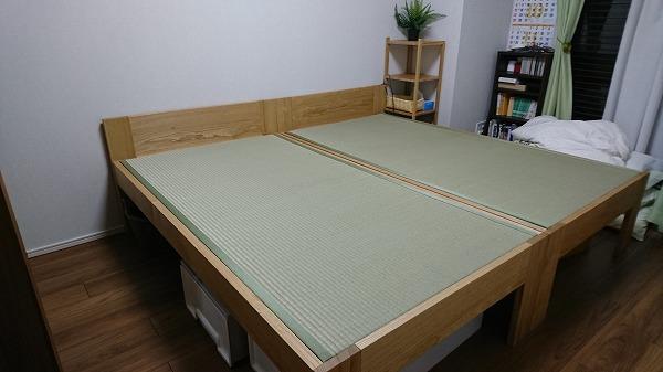 畳ベッド クリ無垢材
