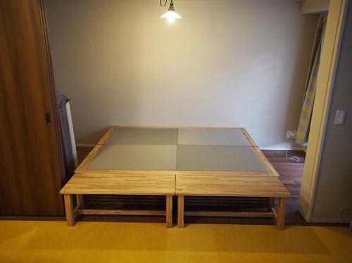 畳ベッド 木製ベンチ オーダー