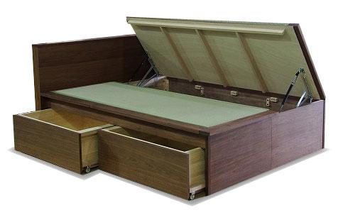 畳ベッド 収納 無垢