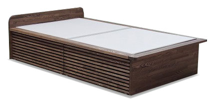 畳ベッド ウォールナット無垢材 引き出し収納