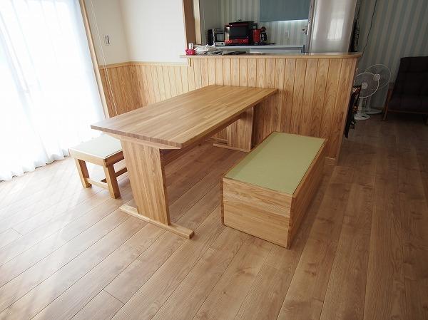 ダイニングテーブル 畳ベンチ オーダー