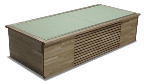 オリジナル畳ベンチ エアコン収納