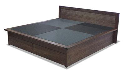 ウォールナット 畳ベッド
