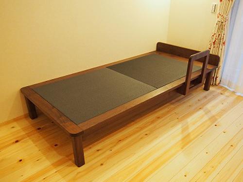 畳ベッド ウォールナット無垢材 ダイケン 黒