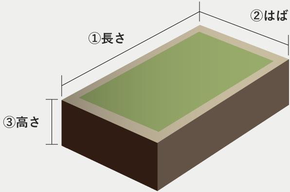 畳ベッドの標準サイズ 一覧表
