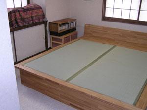 畳ベッド オリジナル 引き出し収納付き