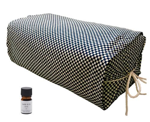 ひのき枕 ごろ寝タイプ 市松ブルー