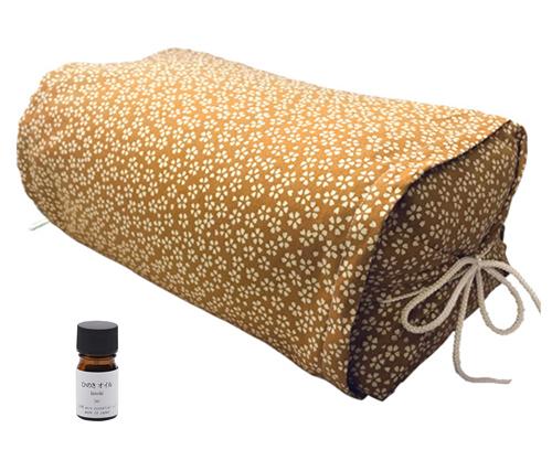 ひのき枕 ごろ寝タイプ 小桜イエロー